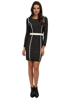 Calvin Klein Long Sleeve Framed Sweater Dress