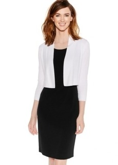Calvin Klein Long-Sleeve Open Cropped Cardigan
