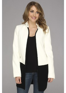 Calvin Klein Melton Jacket w/ Sweater Trim