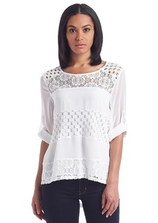 Calvin Klein Mixed Lace Top