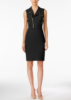 Calvin Klein Moto Sheath Dress