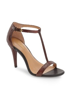 Calvin Klein 'Nasi' Leather T-Strap Sandal (Women)