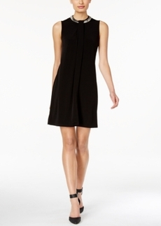 Calvin Klein Necklace-Trim Sheath Dress