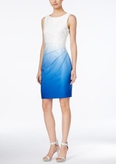 Calvin Klein Ombre Sunburst Sheath Dress