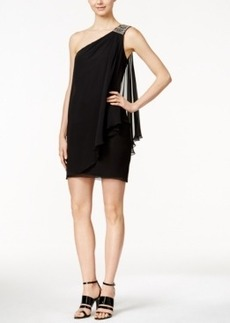 Calvin Klein One-Shoulder Draped Sheath Dress