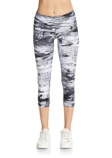 Calvin Klein Performance Abstract-Print Cropped Leggings