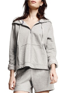 CALVIN KLEIN PERFORMANCE Chrochet-Accented Cotton Hoodie