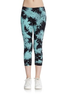 Calvin Klein Performance Cropped Tie-Dyed Performance Leggings