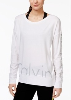 Calvin Klein Performance Long-Sleeve Logo Top