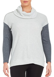 CALVIN KLEIN PERFORMANCE PLUS Colorblocked Cowlneck Sweater