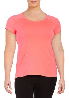CALVIN KLEIN PERFORMANCE PLUS Mesh-Accented Compression Tee