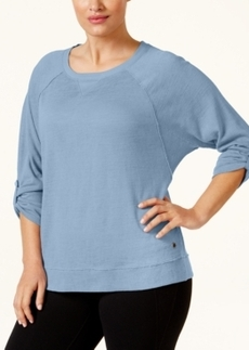 Calvin Klein Performance Plus Size Three-Quarter Sleeve Sweatshirt