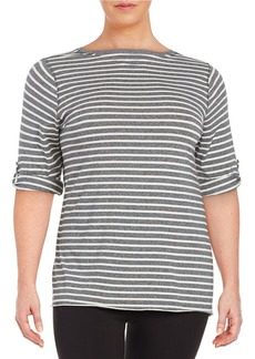 CALVIN KLEIN PERFORMANCE PLUS Striped Tee