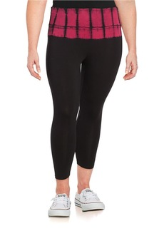 CALVIN KLEIN PERFORMANCE PLUS Tie-Dye-Accented Cropped Leggings