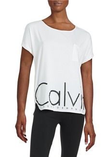 CALVIN KLEIN PERFORMANCE Rolled Sleeved Logo Top