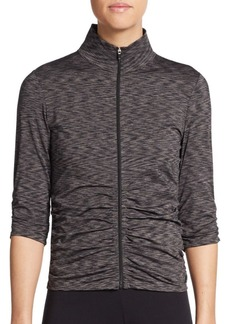 Calvin Klein Performance Space Dyed Ruched Performance Jacket