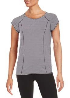 CALVIN KLEIN PERFORMANCE Striped Athletic Tee