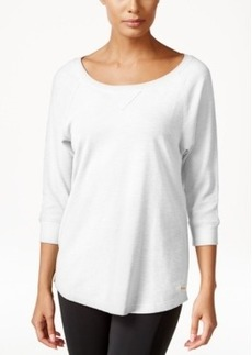 Calvin Klein Performance Three-Quarter-Sleeve Top