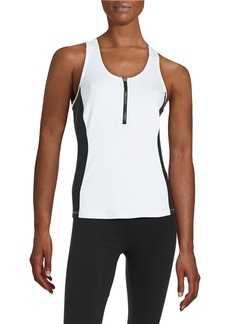 CALVIN KLEIN PERFORMANCE Zip Front Performance Tank