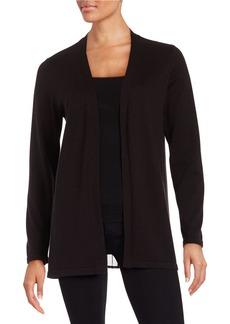 CALVIN KLEIN Pleated Open-Front Cardigan