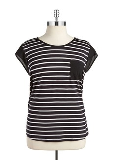 CALVIN KLEIN PLUS Plus Striped Pocket Tee