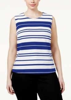 Calvin Klein Plus Size Striped Shell