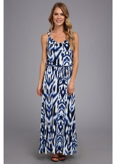 Calvin Klein Print Maxi Dress w/ Hrd