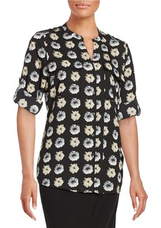CALVIN KLEIN Printed Button-Front Shirt