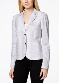 Calvin Klein Printed Two-Button Notched-Collar Jacket