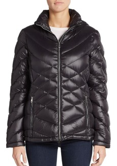 Calvin Klein Quilted Hooded Down Jacket