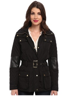 Calvin Klein Quilted Jacket w/ Belt