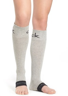 Calvin Klein 'Retro Logo' Open Toe Knee High Socks