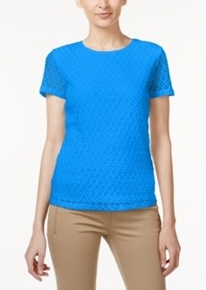 Calvin Klein Short-Sleeve Lace Top