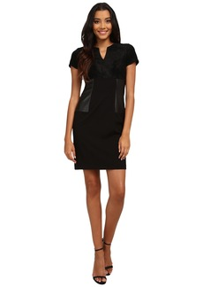Calvin Klein Short Sleeve Multi Media Sheath Dress