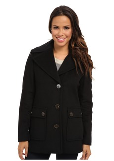 Calvin Klein Single Breasted Wool Blend Peacoat CW38765