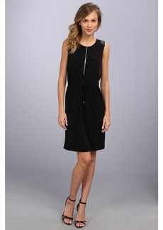 Calvin Klein Sld Dress w/ PU Trim