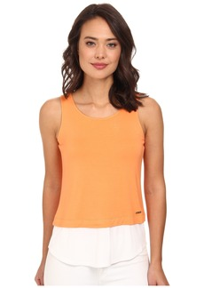 Calvin Klein Sleeveless Double Layer Top