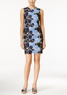 Calvin Klein Sleeveless Floral Lace Sheath Dress