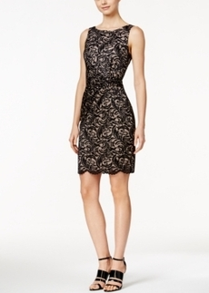 Calvin Klein Sleeveless Lace Sheath Dress