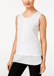 Calvin Klein Sleeveless Layered-Look Sweater