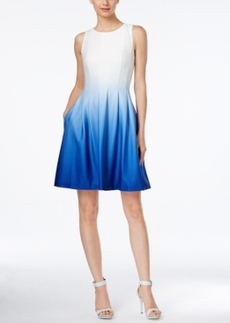 Calvin Klein Sleeveless Ombre Fit & Flare Dress