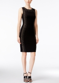 Calvin Klein Sleeveless Studded Sheath Dress