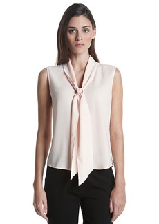 Calvin Klein Sleeveless Tie Neck Top