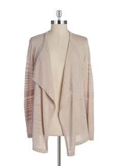 CALVIN KLEIN Striped Knit Cardigan