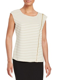 CALVIN KLEIN Striped Knit Top