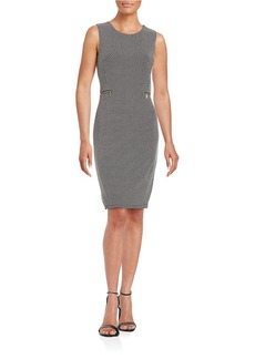 CALVIN KLEIN Textured Dot Sheath Dress