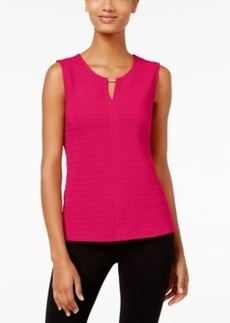 Calvin Klein Textured Hardware-Trim Top