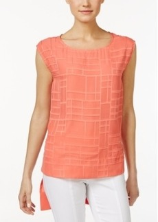 Calvin Klein Textured High-Low Shell