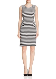 Calvin Klein Textured Stripe Dress