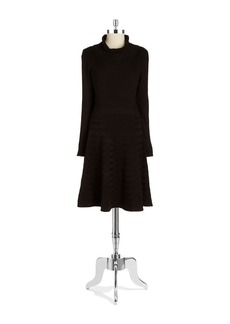 CALVIN KLEIN Textured Turtlneck Sweater Dress